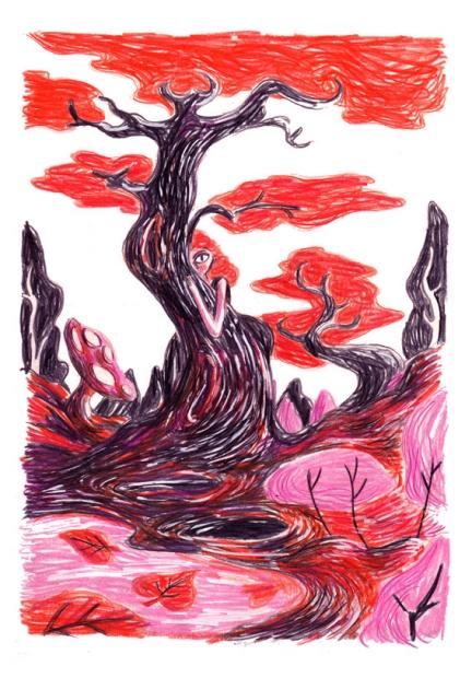 Een geest in het bos