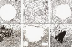Schetsen artwork voor Compro Oro